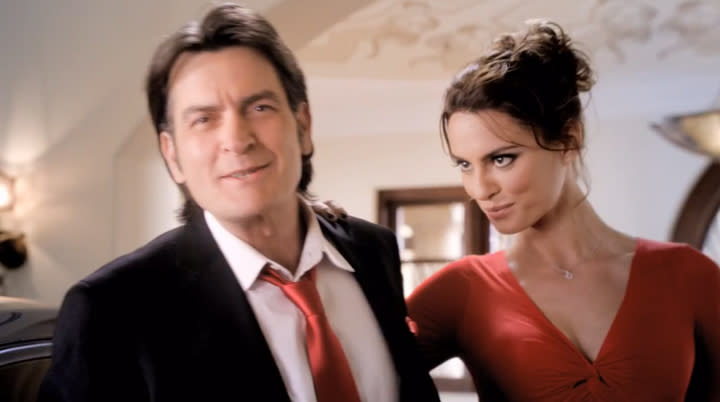 Charlie Sheen's Fiat 500 ad: rolling with supermodels and winning