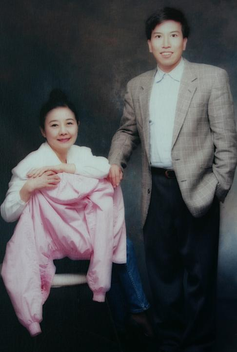 Late Hong Kong tycoon Nina Wang poses for a photo with Peter Chan, then known as Tony. He would later change his name in prison. Photo: Handout