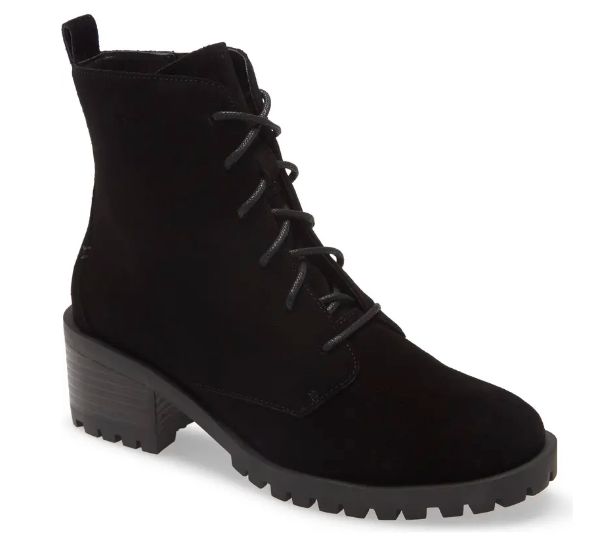 Caslon Keaton Water Resistant Lace-Up Bootie (Photo via Nordstrom)