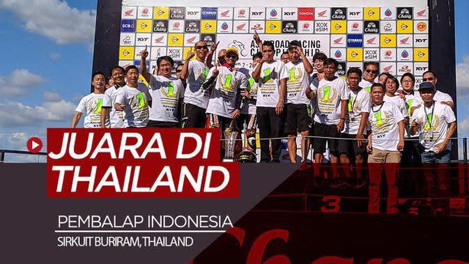 VIDEO: Menjadi Saksi Pembalap Indonesia Juara di Sirkuit Buriram, Thailand