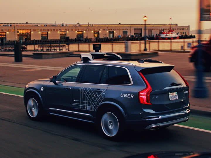 uber autonomous crash volvo