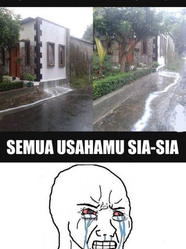 Meme Lucu Saat Hujan Turun ini Bikin Senyum Senyum (sumber:memeslucu.com)
