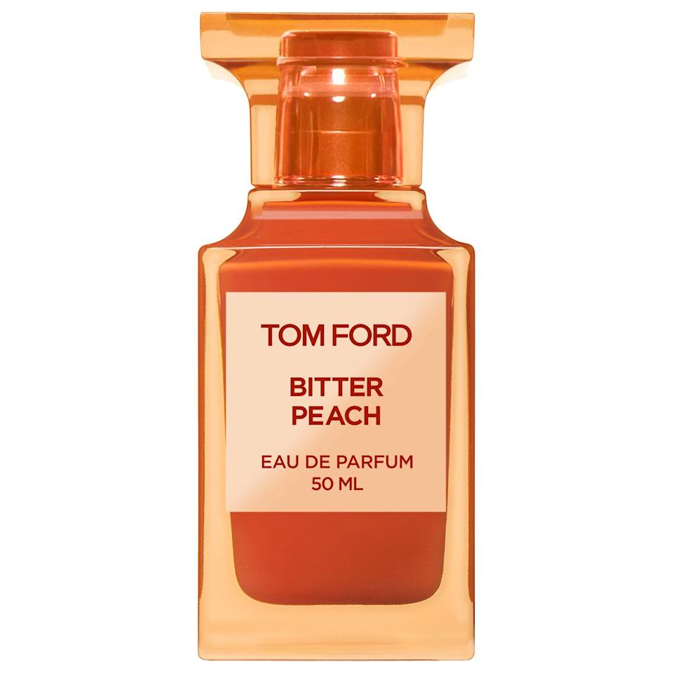 """<p><strong>TOM FORD</strong></p><p>sephora.com</p><p><strong>$350.00</strong></p><p><a href=""""https://go.redirectingat.com?id=74968X1596630&url=https%3A%2F%2Fwww.sephora.com%2Fproduct%2Ftom-ford-bitter-peach-eau-de-parfum-P464304&sref=https%3A%2F%2Fwww.bestproducts.com%2Fbeauty%2Fg34275710%2Ffall-perfumes-fragrances%2F"""" target=""""_blank"""">Shop Now</a></p><p>Want a more intense, juicy aroma in your fall perfume? Then the luxe Bitter Peach fragrance from Tom Ford is your fall take on the summertime stone fruit. </p><p>It has notes of peach, rum-infused davana oil, and patchouli to bring out your darker side, giving you an intoxicating smell that's playful and sexy.</p>"""