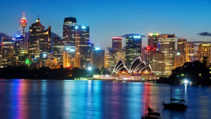Ilustrasi Sydney malam hari (iStock)
