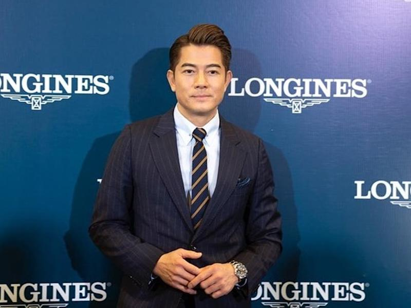 Aaron Kwok was recently in Penang, Malaysia, for a launch event.