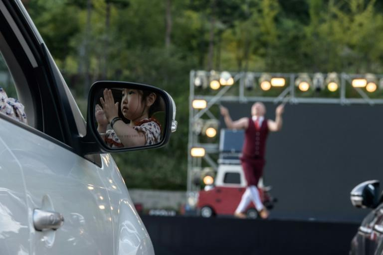 Drive up! Drive up! South Korea's drive-in, virus-proof circus