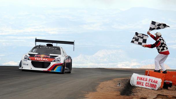 Sébastien Loeb and the Peugeot 208 T16 Pikes Peak set new course record