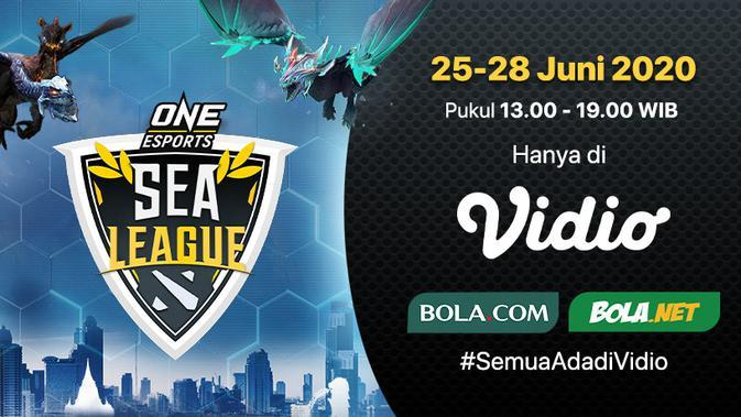 ONE ESports DotA 2 SEA League pekan kedua. (SUmber: Vidio)