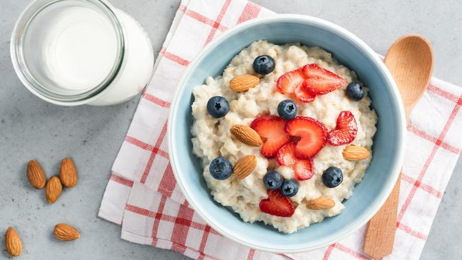 ilustrasi oatmeal (sumber: iStockphoto)