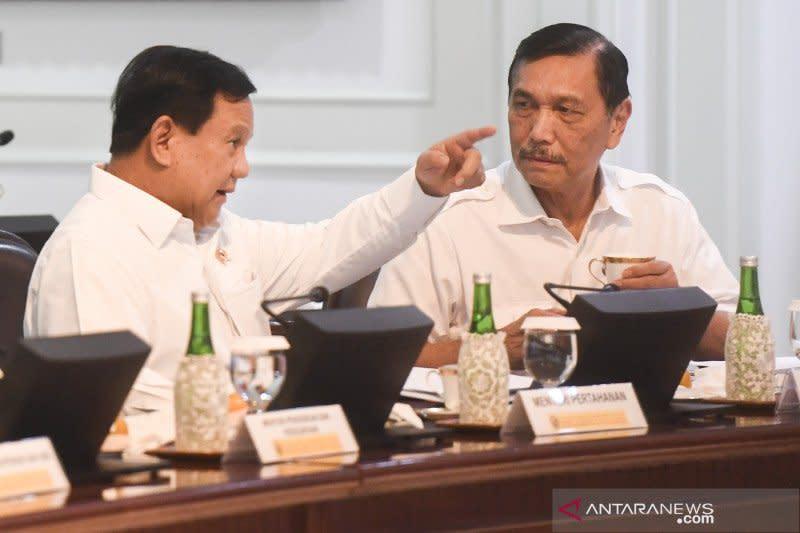 Prabowo datangi kantor Luhut, bahas rencana kerja sama persenjataan