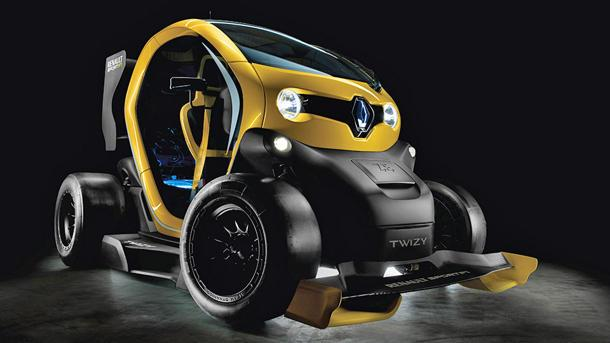 Cross a Formula 1 car with a golf cart, and you get the Renault Twizy F1