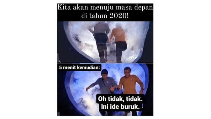 Meme pakai mesin waktu (Sumber: Instagram/sejiwatinja)