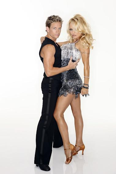 """Model, actress, mother, entrepreneur, philanthropist, and activist, Pamela Anderson is a sex symbol who has appeared on more magazine covers than any other star of her generation and was named in the Guinness Book of World Records as """"most downloaded."""" She joins professional dancer Damian Whitewood, who makes his """"Dancing With the Stars"""" debut this season."""
