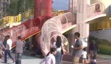 苑裡新公園試營運5天 爆9歲女童溜滑梯遭勒頸傷