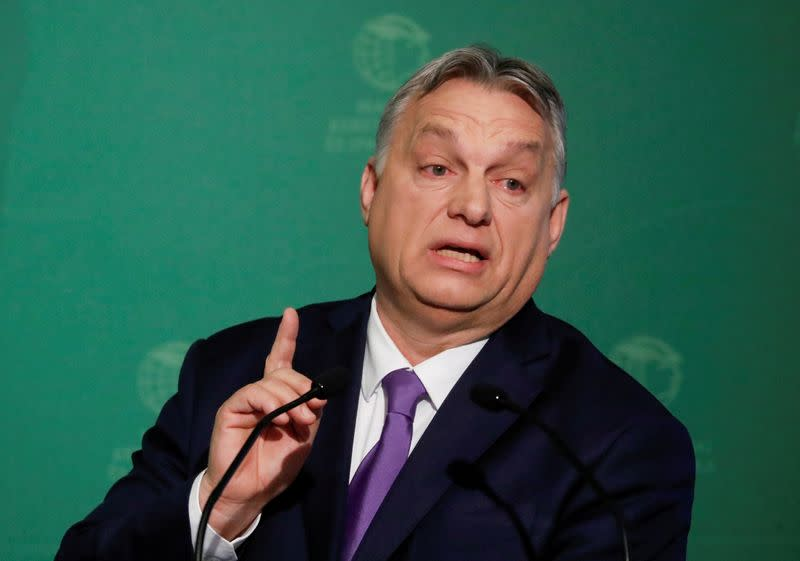 FILE PHOTO: Hungary's PM Orban takes part in an annual business conference in Budapest