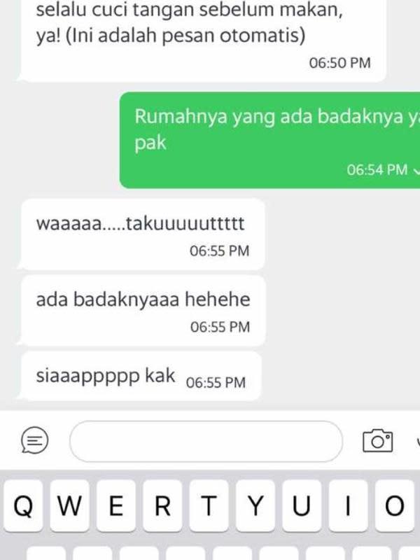 Chat Salah Ketik Ojek Online dan Penumpang (Sumber: Twitter/taelurdadar