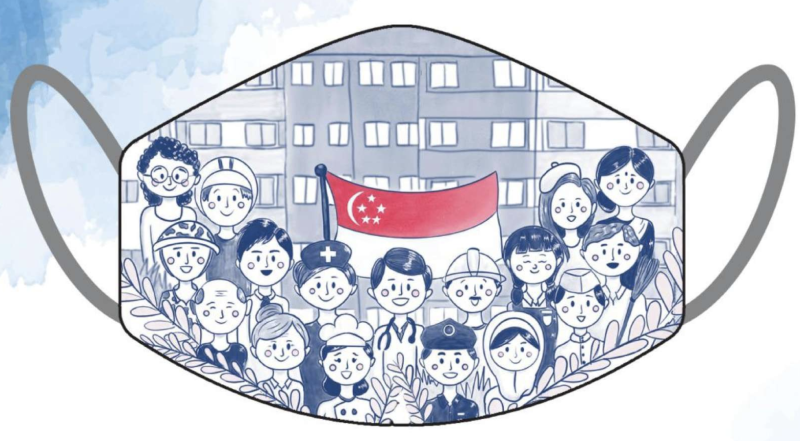 Let's Come Together and Stand as One by Sharon Liew - Mask for the Nation. (PHOTO: Lazada)