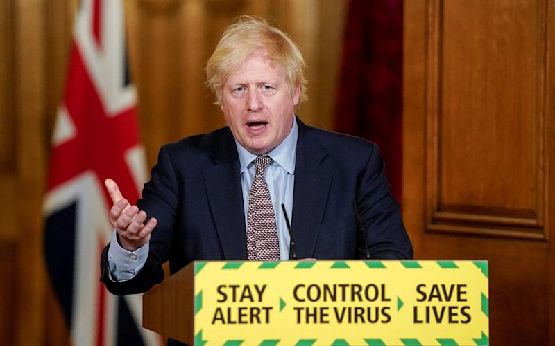 Boris Johnson at the Downing Street Covid press conference - Getty