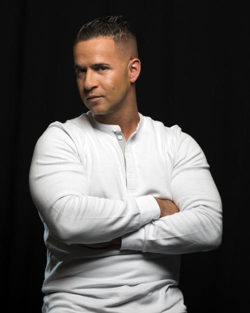 "Reality television star from the MTV Series ""Jersey Shore,"" Mike ""The Situation"" Sorrentino poses for a portrait, on Monday, Sept. 9, 2013 in New York. (Photo by Drew Gurian/Invision/AP)"
