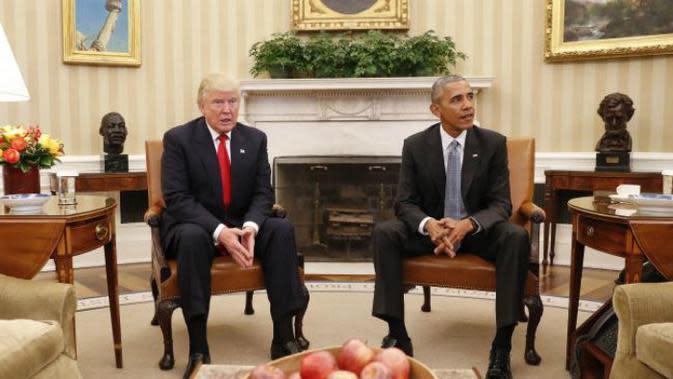 Donald Trump dan Barack Obama (AP)
