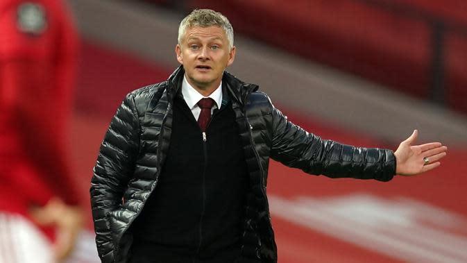 Pelatih Manchester United, Ole Gunnar Solskjaer, dikenal suka memberi kesempatan kepada pemain muda. (AFP/Dave Thompson/pool)