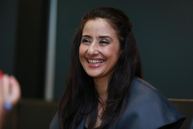 NEW DELHI, INDIA - MAY 30: (Editor's Note: This is an exclusive shoot of Hindustan Times) Bollywood actress Manisha Koirala during an interview for the promotion of her upcoming movie 'Dear Maya' at HT Media Office on May 30, 2017 in New Delhi, India. (Photo by Amal Ks/Hindustan Times via Getty Images)
