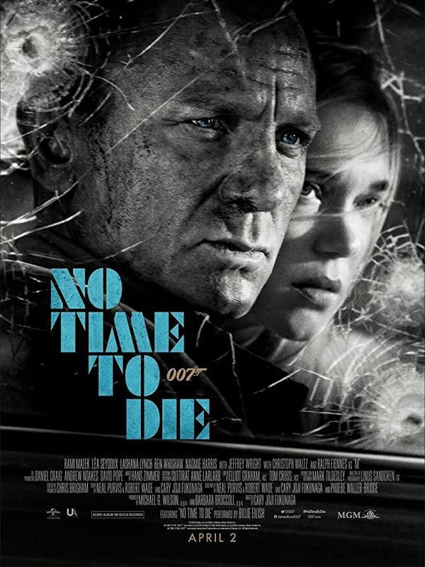 Poster No Time To Die. (Foto: IMDb/ Universal Pictures)