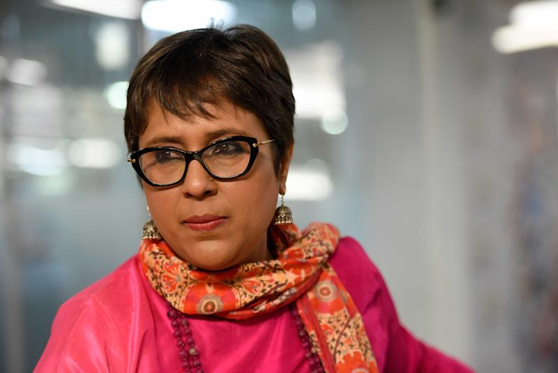 NEW DELHI, INDIA - APRIL 18: (Editor's Note: This is an exclusive shoot of Hindustan Times) Journalist Barkha Dutt during an interview on April 18, 2017 in New Delhi, India. (Photo by Saumya Khandelwal/Hindustan Times via Getty Images)