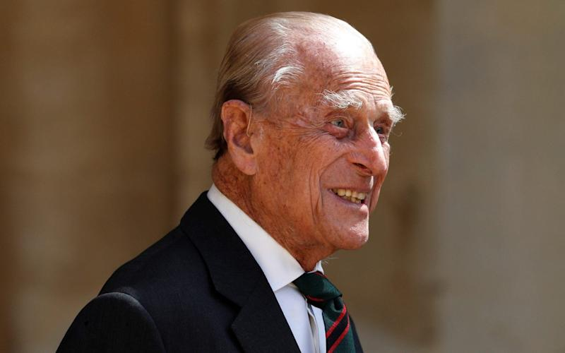 Britain's Prince Philip takes part in the transfer of the Colonel-in-Chief of the Rifles at Windsor Castle in Britain July 22, 2020. The Duke of Edinburgh will step down from his role as Colonel-in-Chief for the Rifles after 67 years of service. - Adrian Dennis/REUTERS
