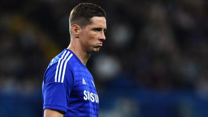 1. Fernando Torres - Striker Spanyol ini datang ke Stamford Bridge dengan status pemain bintang dari Liverpool. Namun sayang, penampilan Torres bersama Chelsea tak segemilang saat berseragam The Reds. (AFP//Ben Stansall)