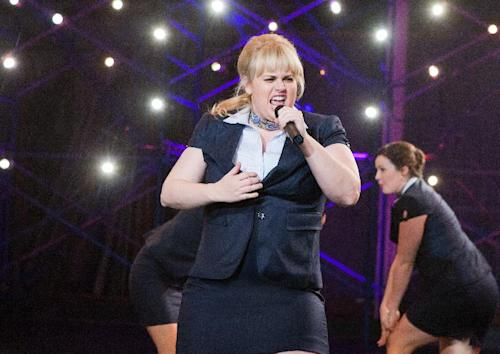 "This image released by Universal Pictures shows Rebel Wilson portraying Fat Amy in a scene from her film ""Pitch Perfect."" (AP Photo/Universal Pictures, Peter Iovino)"