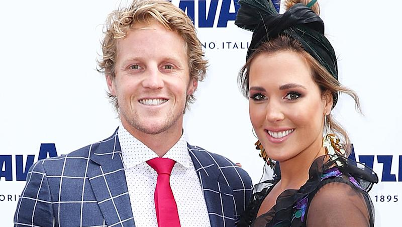 Rory and Belinda Sloane, pictured at the 2017 Melbourne Cup, have launched an initiative to fund research into stillbirths.