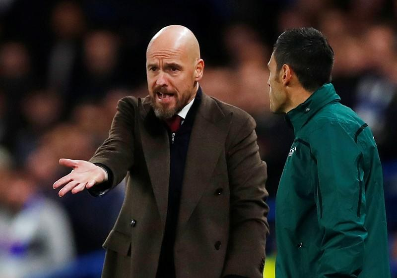 Ajax denied victory by refereeing decisions says Ten Hag