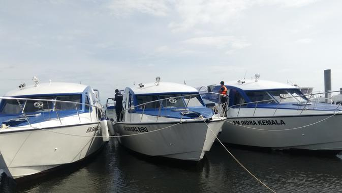 Kapal cepat fiber speedboat. (Foto: Humas Pemprov DKI Jakarta)