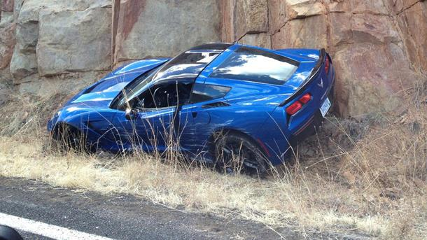 First 2014 Corvette Stingray wreck captured in the wild