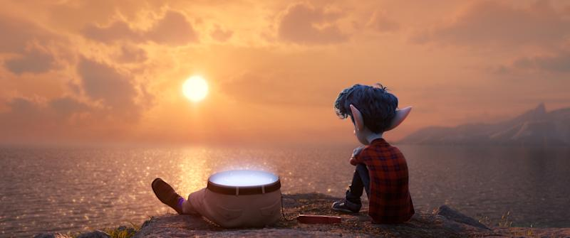 16-year-old Ian (voice of Tom Holland) yearns for the father he lost back before he was born. (© 2019 Disney/Pixar. All Rights Reserved.)
