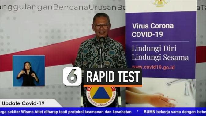 VIDEO: 125 Ribu Rapid Test Didistribusikan, Ini Prioritas Orang Harus Mendapat Tes