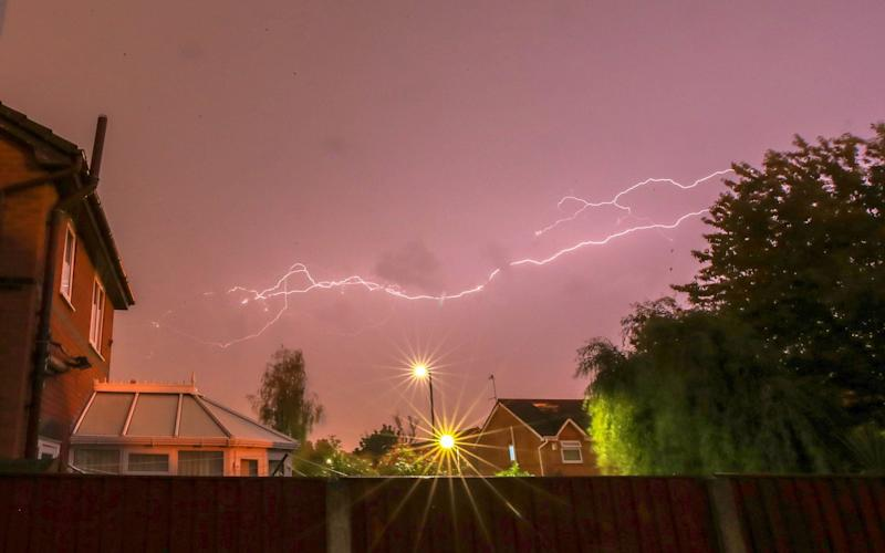 Lightning strikes as a thunder storm passes over Liverpool - Peter Byrne/PA