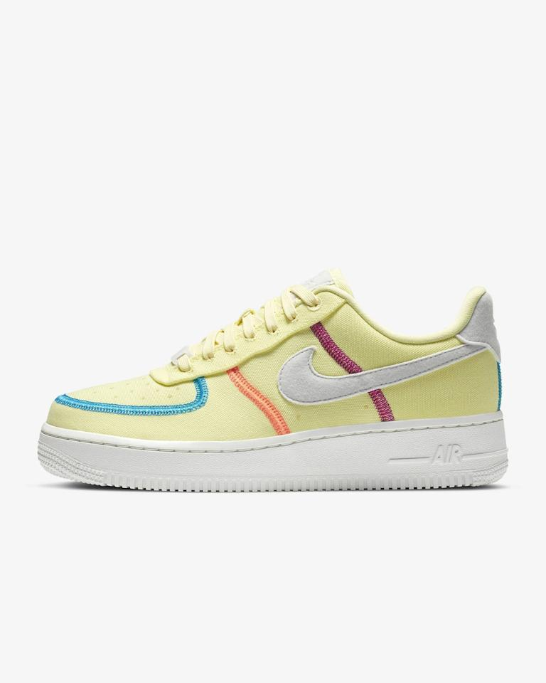 """<p><strong>Nike</strong></p><p>nike.com</p><p><strong>$110.00</strong></p><p><a href=""""https://go.redirectingat.com?id=74968X1596630&url=https%3A%2F%2Fwww.nike.com%2Ft%2Fair-force-1-07-lx-womens-shoe-lwZ4x1&sref=https%3A%2F%2Fwww.seventeen.com%2Ffashion%2Ftrends%2Fg33534514%2Fbest-nike-air-force-1-sneakers%2F"""" target=""""_blank"""">Shop Now</a></p><p>Yep, neon Air Force 1s are a thing. You can shop these ones in an equally cute <a href=""""https://go.redirectingat.com?id=74968X1596630&url=https%3A%2F%2Fwww.nike.com%2Ft%2Fair-force-1-07-lx-womens-shoe-lwZ4x1%2FCK6572-800&sref=https%3A%2F%2Fwww.seventeen.com%2Ffashion%2Ftrends%2Fg33534514%2Fbest-nike-air-force-1-sneakers%2F"""" target=""""_blank"""">highlighter orange tint</a> too – just sayin'. </p>"""