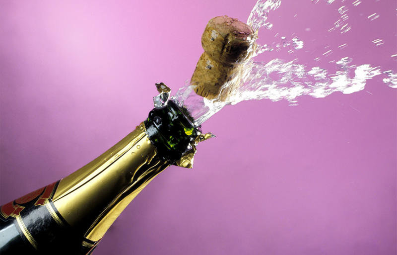 The winner of Tuesday night's $40 million Oz Lotto jackpot has popped a bottle of bubbles to begin celebrating his windfall.