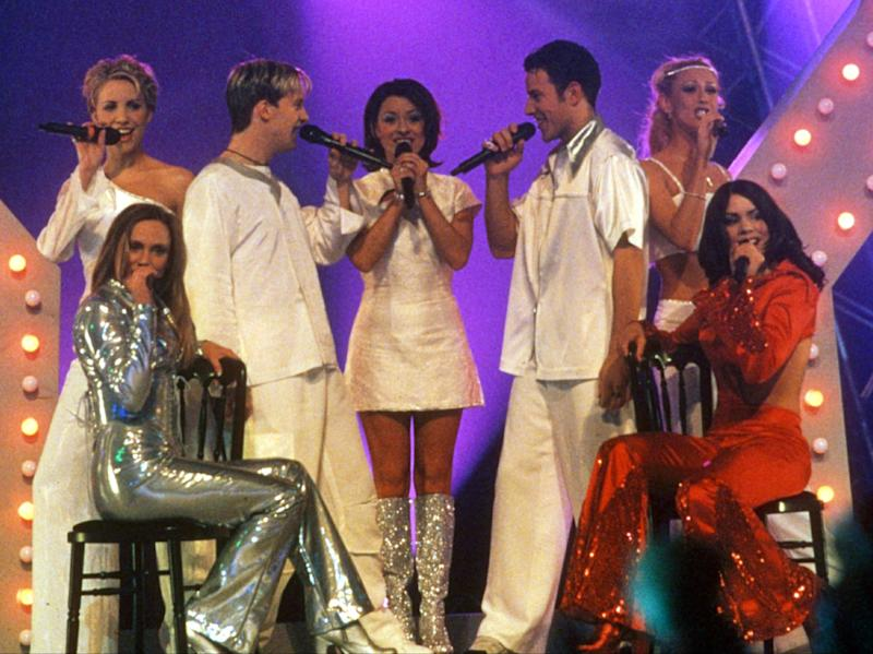 Steps performing at the Brit Awards in 1999 with B*Witched and BillieRex Features