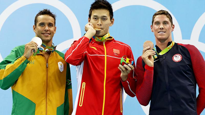 Conor Dwyer, pictured here after winning bronze at the 2016 Olympics in Rio.
