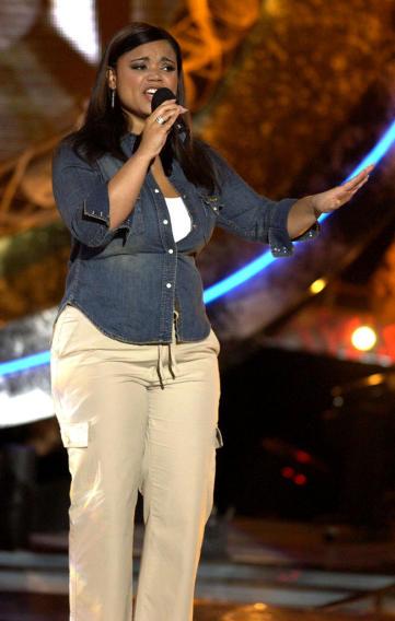 "Kimberley Locke at the season 2 ""American Idol."" finale."