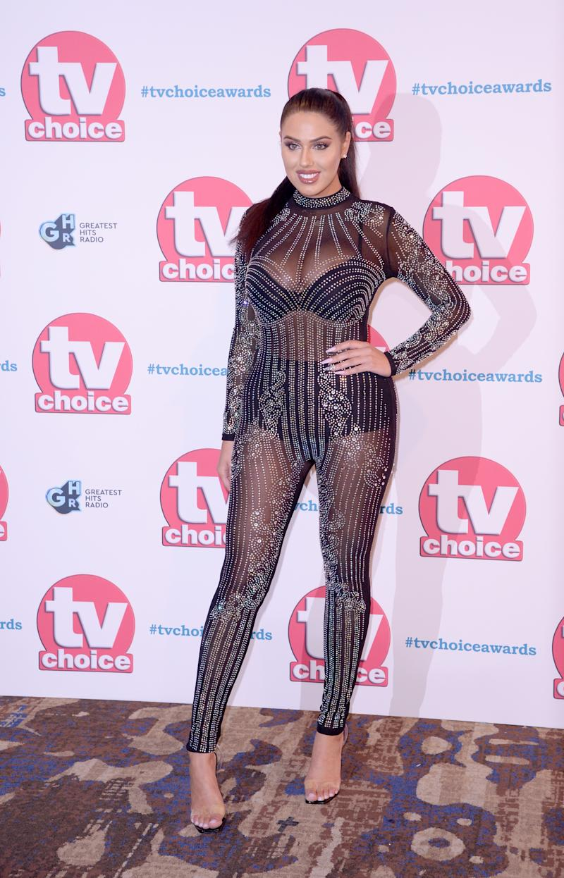 Love Island UK star Anna Vakili arrives at the TV Choice Awards in London this week