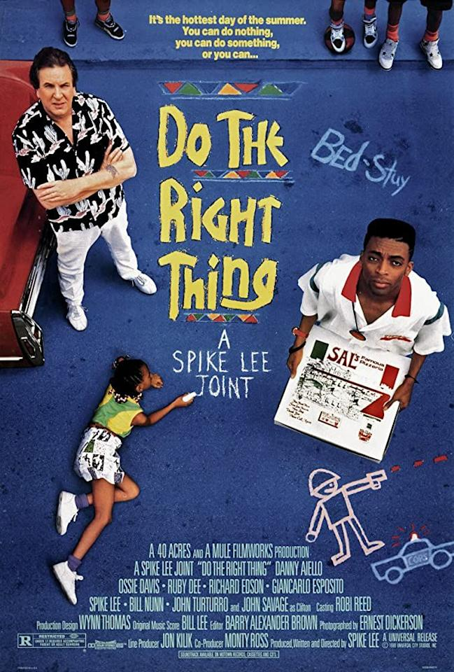 "<p>This 1989 Spike Lee production brings us into a steamy day in the rapidly changing Brooklyn neighborhood of Bed-Stuy. What starts as an argument escalates into violence, in this movie that looks directly at racial tension. It also includes a dedication to those who died by police brutality, which feels all too fitting today. </p><p><a class=""body-btn-link"" href=""https://www.amazon.com/Do-Right-Thing-Ossie-Davis/dp/B000I9VOGW?tag=syn-yahoo-20&ascsubtag=%5Bartid%7C10055.g.32823787%5Bsrc%7Cyahoo-us"" target=""_blank""> WATCH NOW</a></p><p><strong>RELATED: </strong><a href=""https://www.goodhousekeeping.com/life/entertainment/g32745719/best-books-about-anti-racism/"" target=""_blank"">20 Best Books About Anti-Racism to Educate Yourself</a></p>"