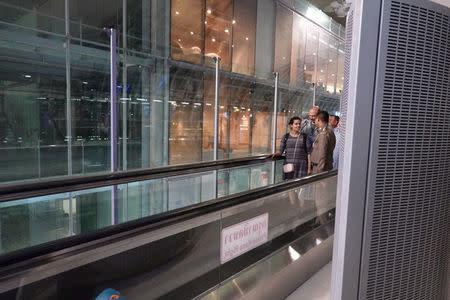 Saudi teen Rahaf Mohammed al-Qunun is seen before departing from Thailand at Suvarnabhumi Airport in Bangkok