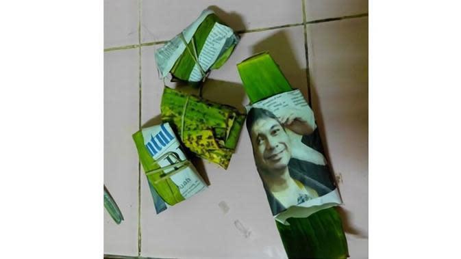 5 Foto Orang di Kertas Bungkusan Ini Bikin Ketawa Nyengir (sumber: Instagram.com/receh.id)