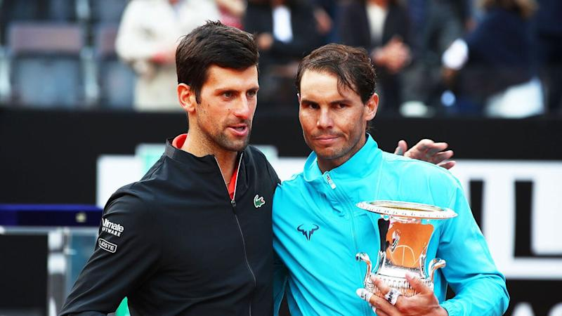 Nadal added another Italian Open title to his collection after beating Djokovic in the Rome final. Pic: Getty