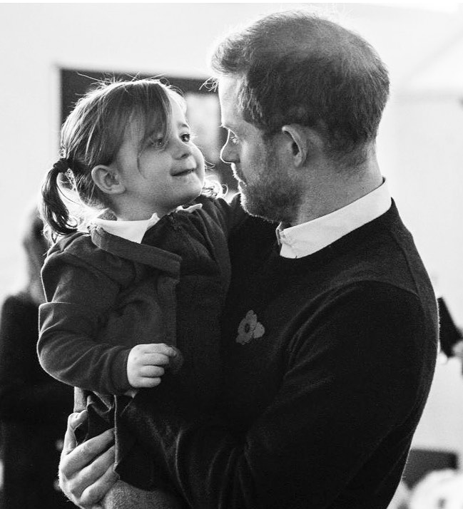 Harry said he 'sympathised' with military parents who are often away from their kids. Photo: Instagram/sussexroyal.