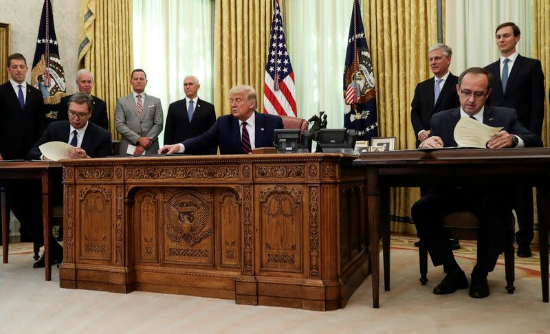 Trump lauds economic steps between Serbia and Kosovo